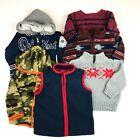 Baby Boy 12-18 Lot of 6 Jacket Sweaters Vest Hoodie Pullover Camo Osh Kosh Warm