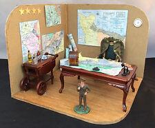 Miniature Vignette: Dwight D. Eisenhower WWII Field Office-Amazing Detail-OOAK