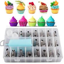Sugarcraft 24Pcs Icing Piping Nozzles Tips Pastry Cake Cupcake Decor Bake Tool