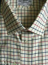 Harvie & Hudson 19/33.5 Brushed Cotton Blue/Red/Charcoal (Shorter Sleeve) Shirt