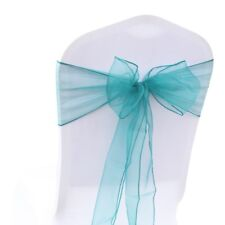 10 Organza Chair Cover Sashes Bow for Wedding Party Birthday Decor 32 Colors