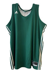 Adidas climacool Reversible Mesh Basketball Jersey Forest green & White L #1 New