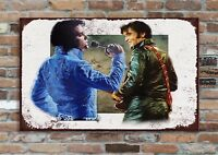 "10x8/"" Retro-look Metal Art Piece Plaque Wall-Pic 2 FREDDY MERCURY Music Icons"