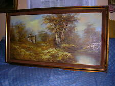 """H.GAILEY """"SIGNED"""" GORGEOUS LANDSCAPE OIL PAINTING ON CANVAS FRAME: 54"""" X 30"""""""
