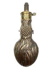 Rare 19th C Bartram Pineapple Powder Flask English Antique Flask American