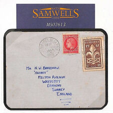 France GB SCOUTING 1947 Card *Jamboree de la Paix* MESSAGE Dorking MS2613