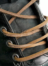GENUINE LEATHER GRAYSTONE SHOE BOOT LACES 182cm x 4mm