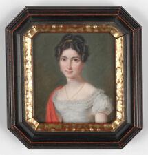 """Pierre Louis Bouvier (1765-1836) """"Portrait of a young lady"""", miniature, ca. 1820"""