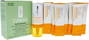 Clinique Fresh Pressed 7-Day System with Pure Vitamin C All Skin BNIB As Pics