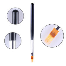 UV Gel Gradient Painting Pen Drawing Brush Wooden Handle Manicure Nail Art Tool