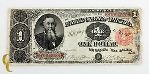 1891 US Treasury $1 Dollar Note (F+ to VF) Fine Plus to Very Fine Condition