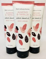 3 Bath & Body Works Almond & Vanilla Body Cream Lotion Tube Moisture
