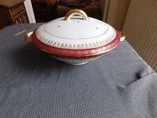 Piccola zuppiera servizio Vienna porcellana di Limoges ORO decoro floreale