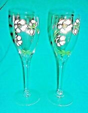 """Perrier Jouet Belle Epoque Crystal Champagne Flute 7-1/2"""" Tall...PAIR"""
