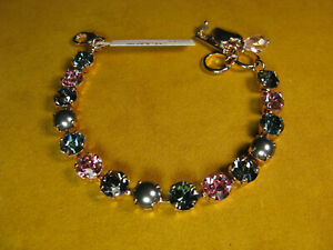 MARIANA BRACELET SWAROVSKI CRYSTALS PEARL GRAY BLUE PINK MULTI COLOR Rose Gold