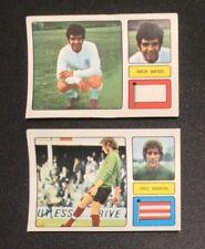 FKS 1973/74 Stickers Mick Bates Leeds #105 Eric Martin Southampton #228