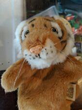 "JAAG Tiger Hand Puppet 9"" Plush Soft Toy Stuffed Animal NWT!"