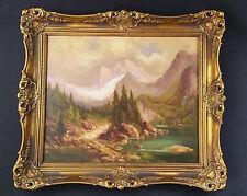 HERMANN STENZEL (*1887 Breslau -1961 bad Tölz) Ölgemälde Berglandschaft Bad Tölz