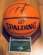Giannis Antetokounmpo & Kristaps Porzingis Signed NBA Autograph Basketball (JSA)