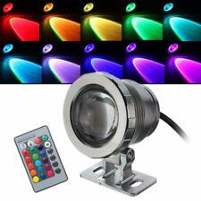20/10W RGB LED Unterwasser strahler Teichlampen Fountain Garten Wasserdicht IP68