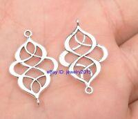 30PCS Tibetan silver earring findings Jewelry Findings Connectors 27MM