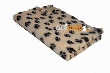 Tapis Confortbed Vetbed Dry beige pattes marron 50x75 cm 20 mm