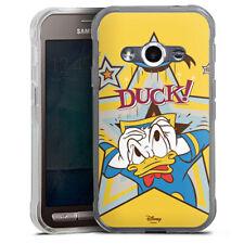 Samsung Galaxy Xcover 3 Silikon Hülle Case - DUCK!