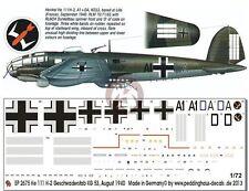 Peddinghaus 1/72 Heinkel He 111 H-2 Markings Stab./KG 53 France 1940 WWII 2675