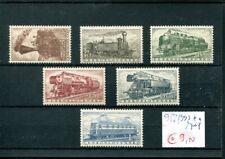 711) Tschechoslowakei 1956  - Mi.- Nr. 988/993 ** (m/nh) - Eisenbahn