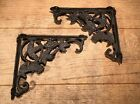 Pair of Two Cast Iron Grape Corner Brace Brackets French Country Decor 0184-9199