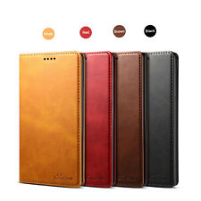 For Samsung Galaxy Note 10+ 5G Retro Leather Flip Wallet Stand Case Cover