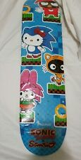 New Sdcc Sonic The Hedgehog x Sanrio Hello Kitty Skate Deck Limited Edition 50