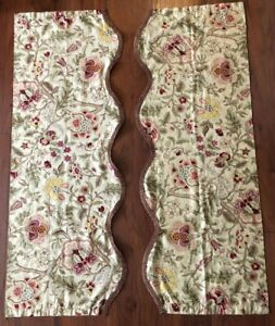 Waverly Floral Pattern Valances, Set of Two