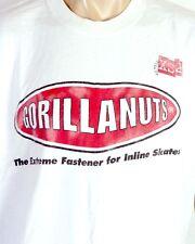 vtg 90s RARE Gorilla Nuts Fasteners T-Shirt Inline Skates Rollerblade Skate XL