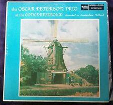 At the Concertgebouw - Oscar Peterson Trio LP Verve MG V-8268 Mono