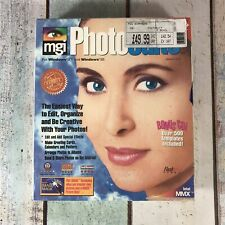 Vintage MGI PHOTOSUITE 8 PC CD digitale Bildbearbeitung Windows 3.1 95