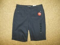 NWT St Johns Bay Secretly Slender Woman 8 Navy Blue Bermuda Shorts Quality