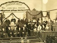 Christmas 1928 FRAMED PHOTO Old Pine Street 3rd Presbyterian Church Philadelphia