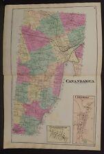 New York  Ontario County Map Canandaigua Township 1874 Dbl Pg  W15#09