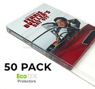 50 Pack Steelbook Protector Cases Plastic Protective Slipcover Sleeves