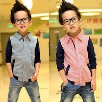 Stylish Unique Kids Toddler Boys Clothes Long Sleeve Tops Jacket Coat Sz2-7Y