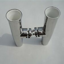Great 2xTournament Clamp On Fishing Rod Holder With Plastic Liner For Boat