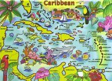 CARIBBEAN MAP FRIDGE COLLECTOR'S SOUVENIR MAGNET 2.5