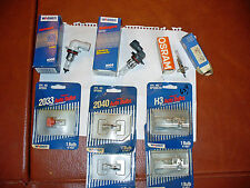 NEW - LOT OF 9- AUTOMOTIVE HALOGEN MINIATURE LIGHT BULBS, 9005,9006,2040 & MORE