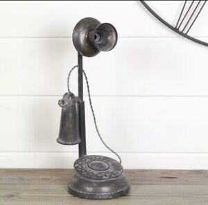 Black Graham Metal Telephone