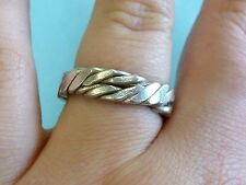 Sterling Silver Twisted Strand Braided Band Ring Size 8.75  925