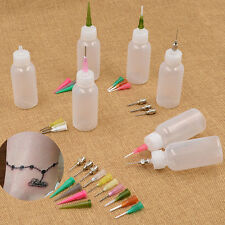16PCS Nozzle+2 Bottle Henna Applicator Paste Tattoo Body Drawing Making Tool SET
