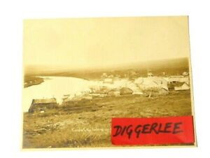 """1903 Candle City Looking up Keewalik River Nowell Sepia Photograph 10x8"""" #116"""