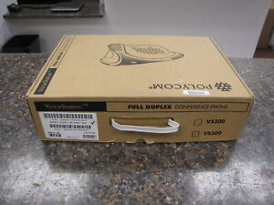 Polycom Voicestation 500 Conference Phone 2201-17900-001 in box with Wall Module