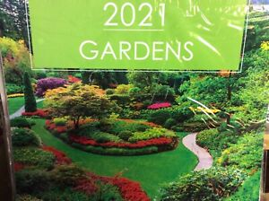 2021 SQUARE WALL  ( 30cm x 30cm ) CALENDAR NEW  SEALED GARDENS